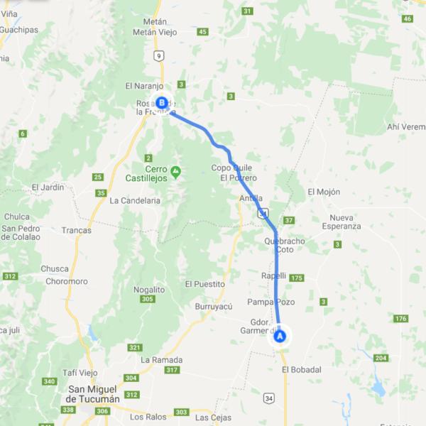 Mapa malla 431B